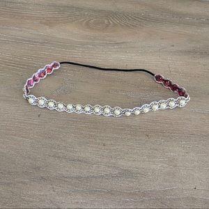 NWOT LF ornate pearl beaded headband